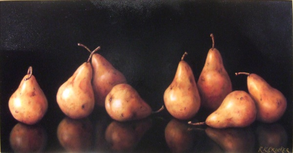 Ronalee Crocker Eight Bosc Pears 15x30