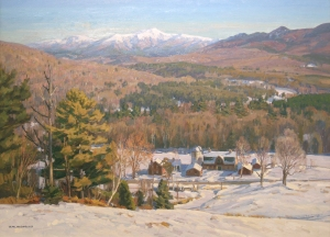 TM Nicholas - Morning Light, White Mountains - 30 x 40