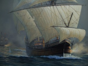 "detail from ""The Golden Galleon"""