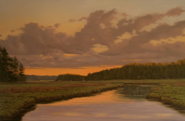 "Sergio Roffo  ""Sunset After the Storm"" 24x36"