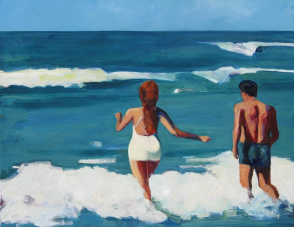 Couple in the Surf 48x60mr