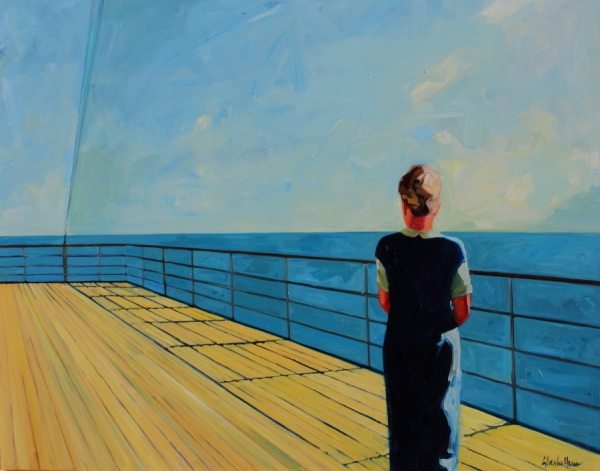 Looking Out to Sea 48 x 60